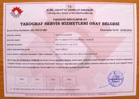 takograf, tekirdağ takograf, tekirdag takograf servis belgesi